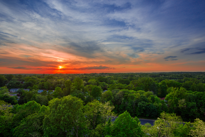Stunning views from many apartments at White Oak Towers Apartments
