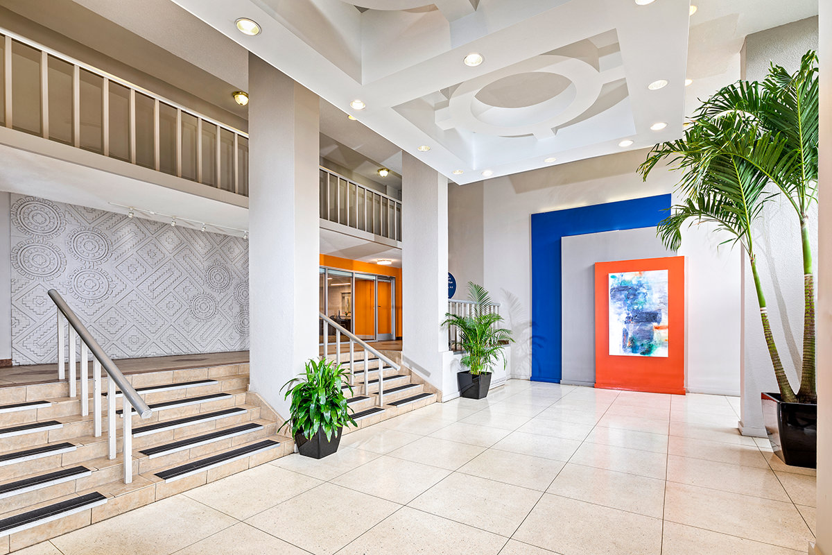 Lobby at White Oak Towers Apartments in Silver Spring, MD
