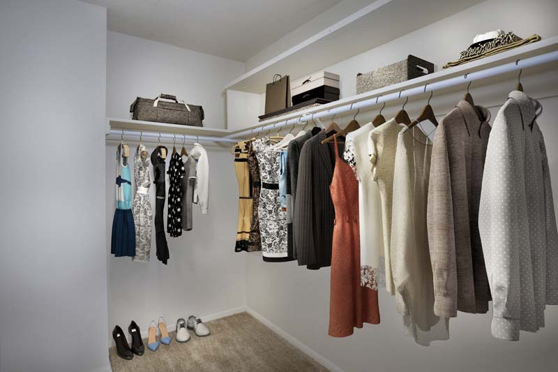 Walk-in closet at White Oak Towers Apartments in Silver Spring, MD