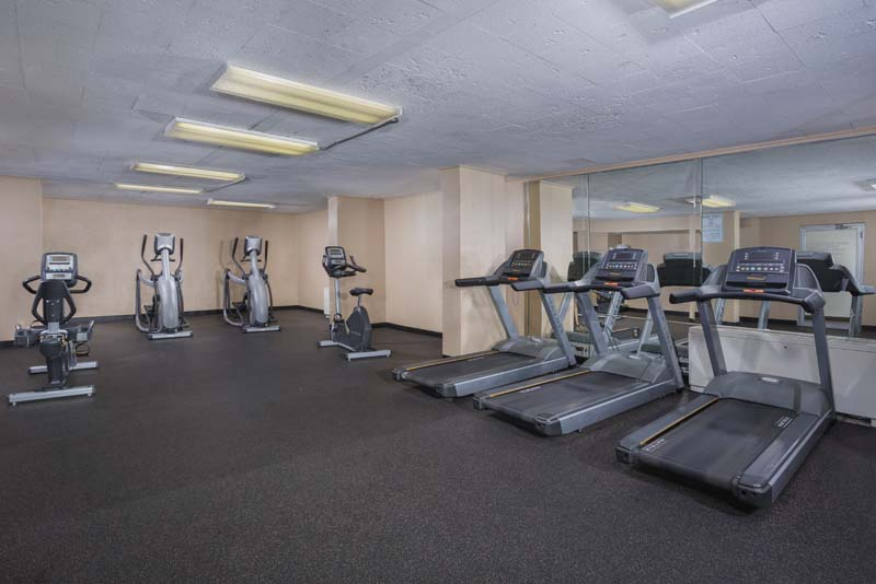Fitness room at White Oak Towers Apartments in Silver Spring, MD