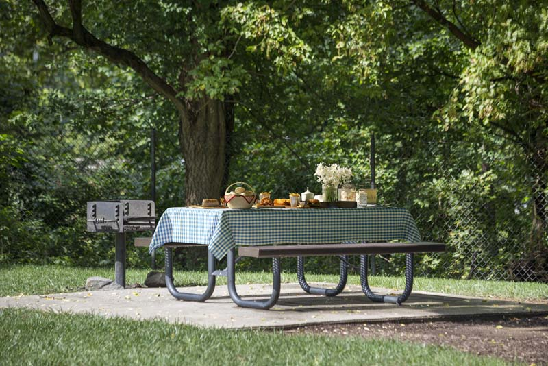 Picnic area at White Oak Towers Apartments in Silver Spring, MD