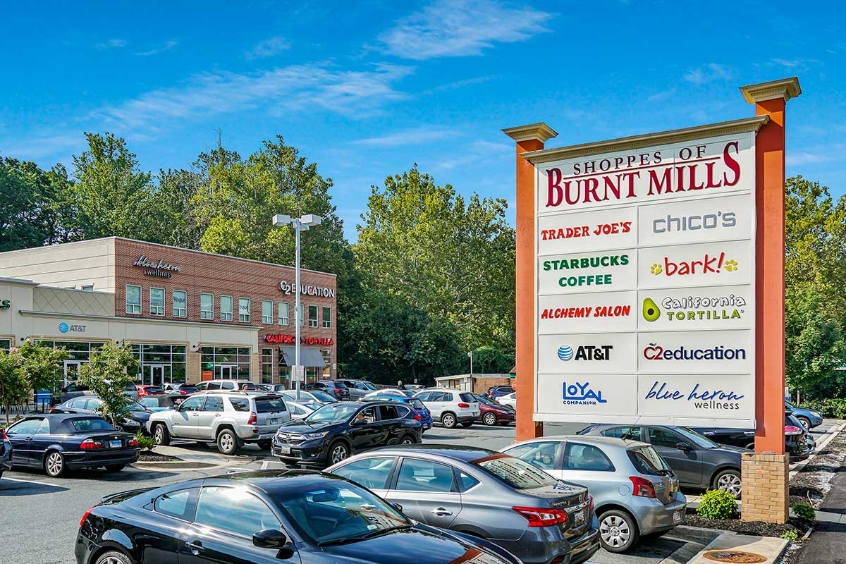 8 minutes to Shoppes of Burnt Mills in Silver Spring, MD