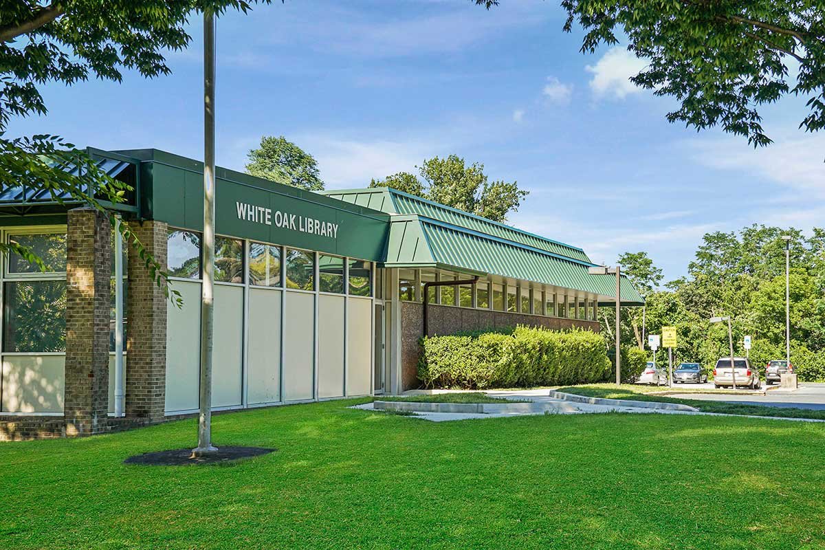 White Oak Library is 5 minutes from White Oak Towers Apartments in Silver Spring, MD