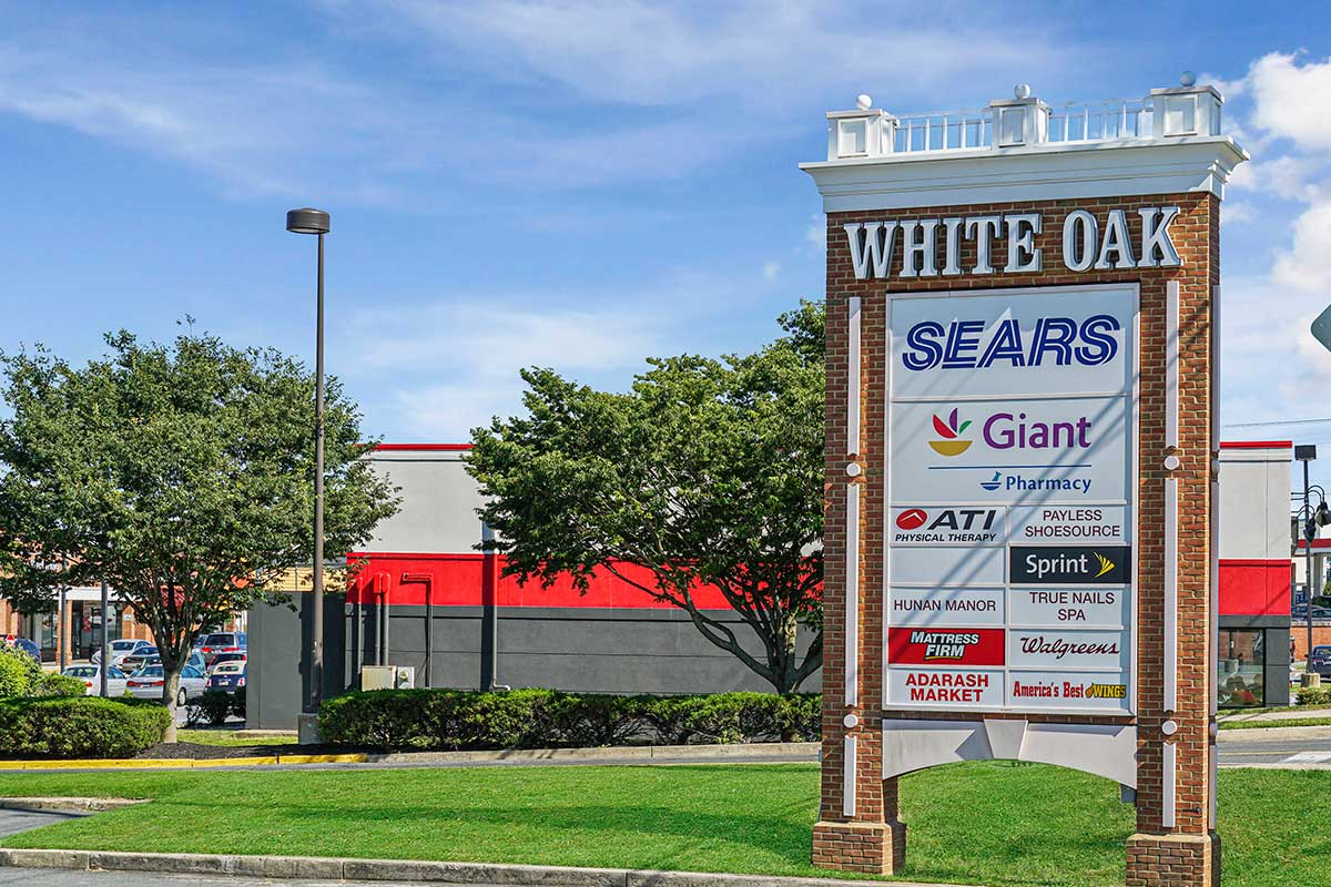 White Oak shopping center is 5 minutes from White Oak Towers Apartments