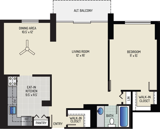 White Oak Towers Apartments - Apartment 571700-0501-D1
