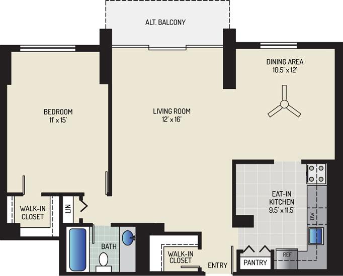 White Oak Towers Apartments - Apartment 571700-2118-D2