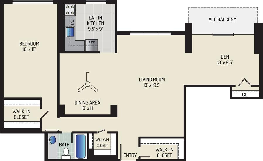 White Oak Towers Apartments - Apartment 571700-2103-E2