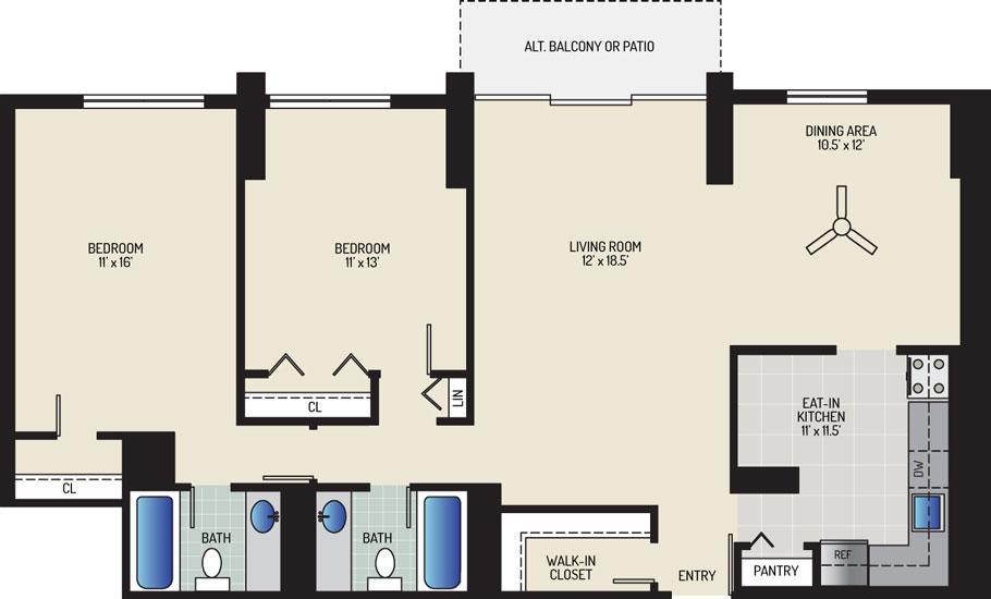White Oak Towers Apartments - Apartment 571700-2108-H