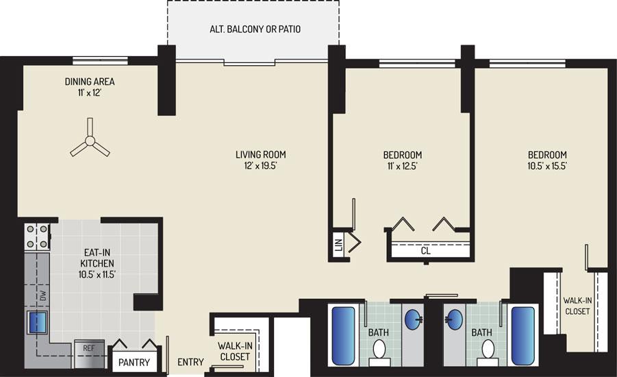 White Oak Towers Apartments - Apartment 571700-1907-I2