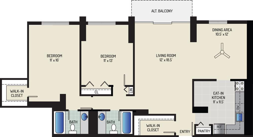 White Oak Towers Apartments - Apartment 571700-0904-J1