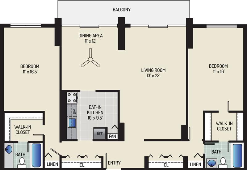 White Oak Towers Apartments - Apartment 571700-2210-M