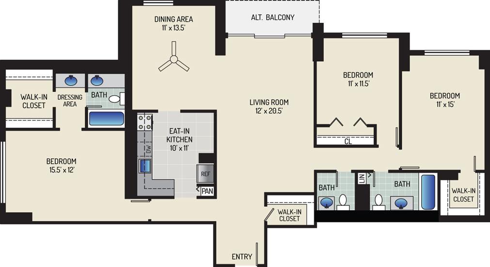 White Oak Towers Apartments - Apartment 571700-1814-R1