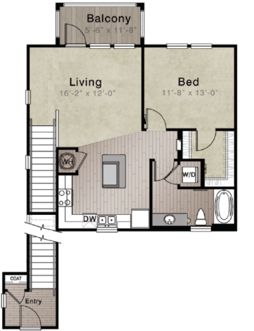 Whitepalm Luxury Apartment Homes - Floorplan - Bismark