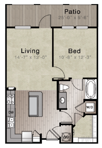 Whitepalm Luxury Apartment Homes - Floorplan - Fiji