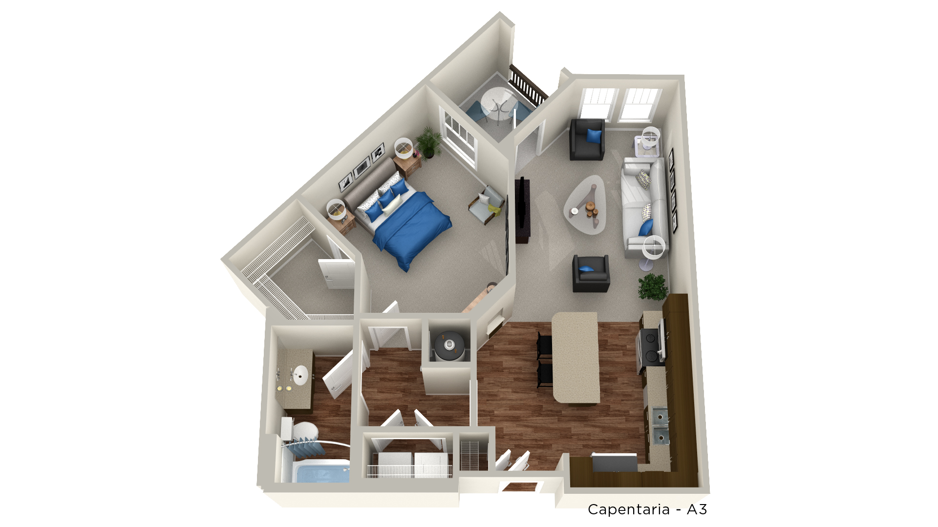 Whitepalm Luxury Apartment Homes - Floorplan - Capentaria