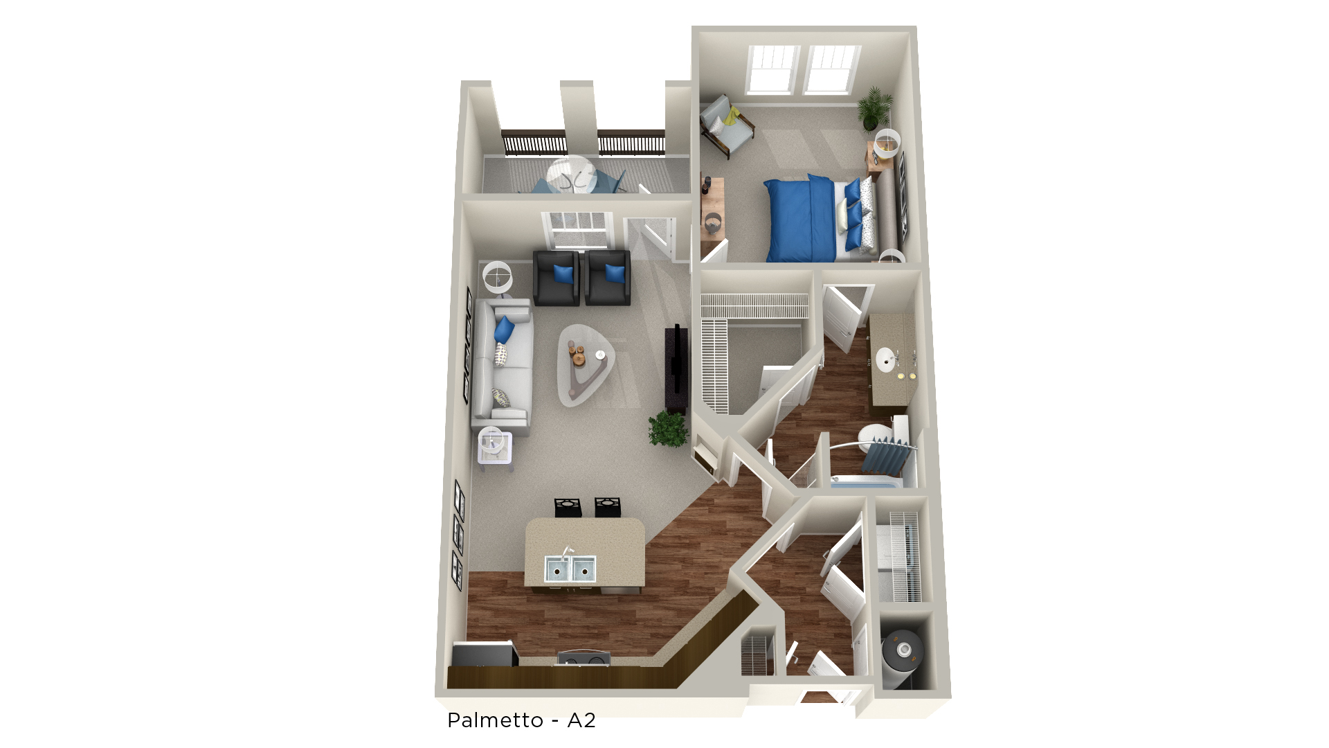 Whitepalm Luxury Apartment Homes - Floorplan - Palmetto