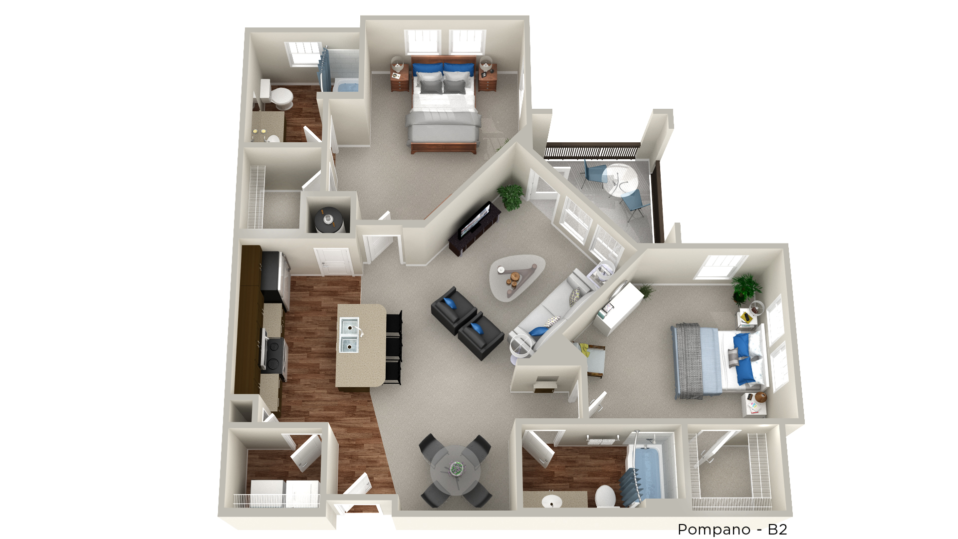 Whitepalm Luxury Apartment Homes - Floorplan - Pompano