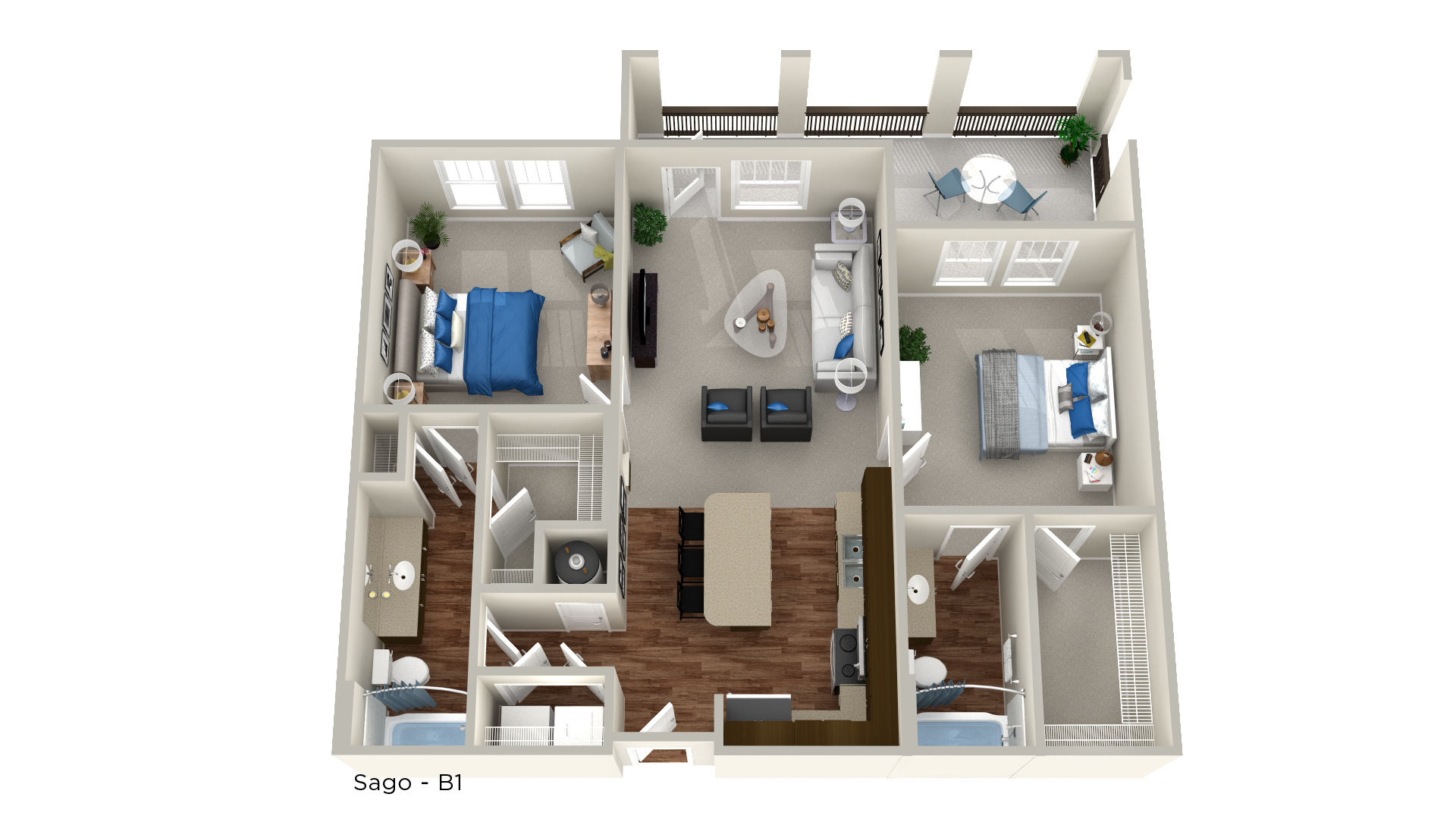 Whitepalm Luxury Apartment Homes - Floorplan - Sago