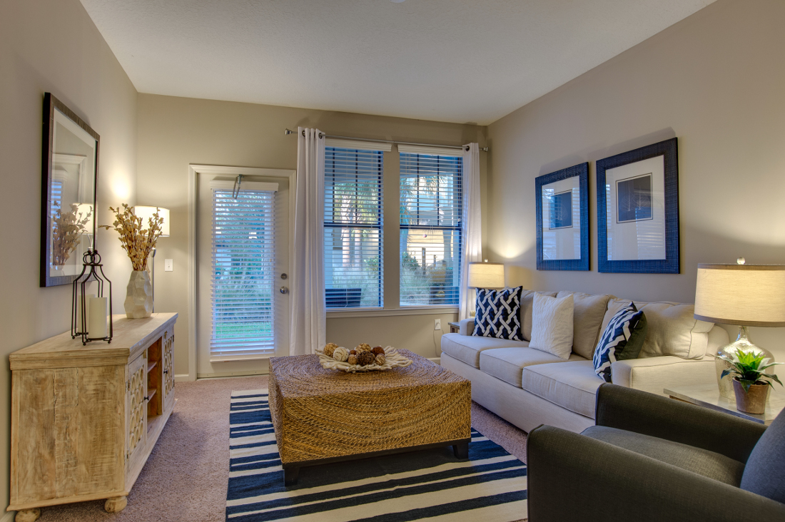 Elegant Living Area at Whitepalm Luxury Apartment Homes in Port Orange, FL