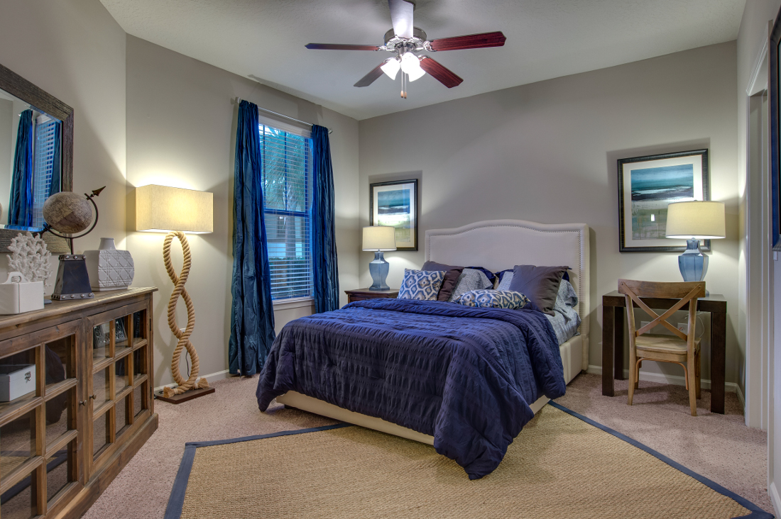 Elegant Bedroom at Whitepalm Luxury Apartment Homes in Port Orange, FL