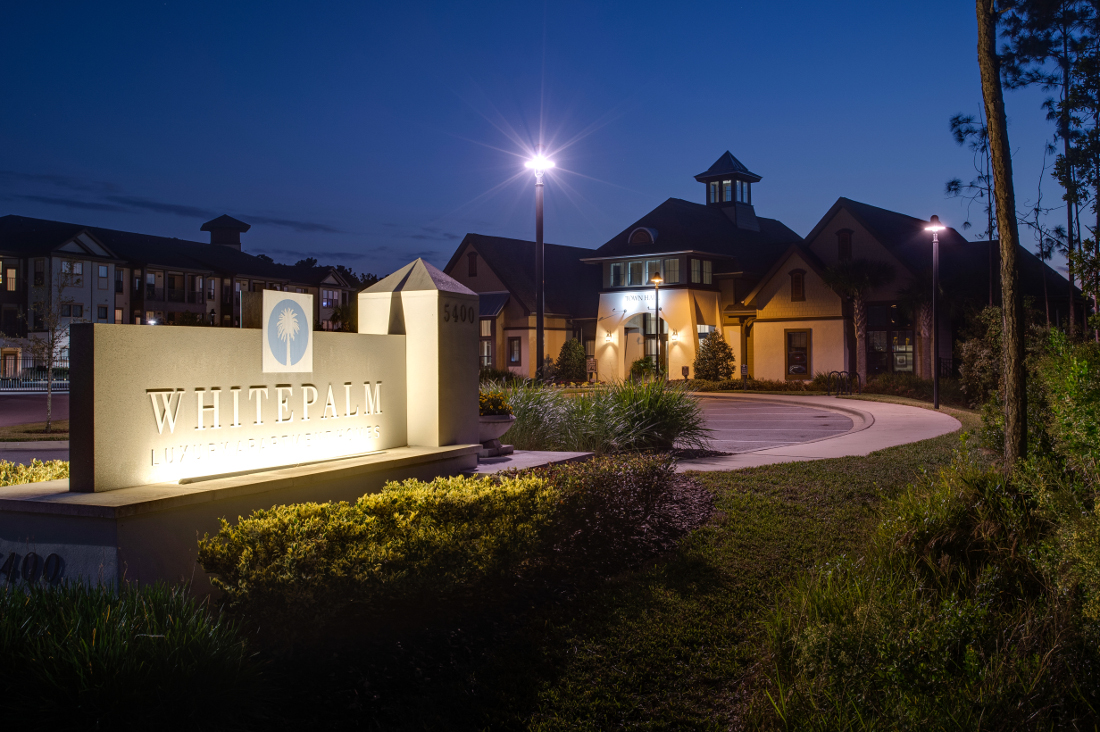 Night View at Whitepalm Luxury Apartment Homes in Port Orange, FL
