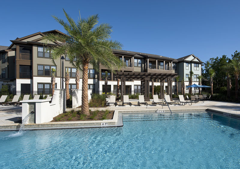 Relaxing Outdoor Cabanas at Whitepalm Apartments in Port Orange, FL