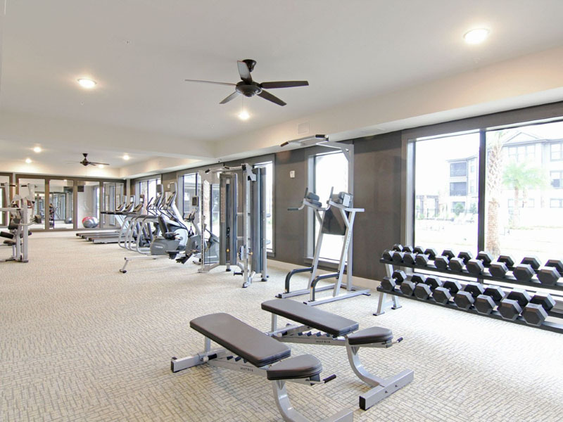 Fully-Equipped Fitness Center at Whitepalm Apartments in Port Orange, FL