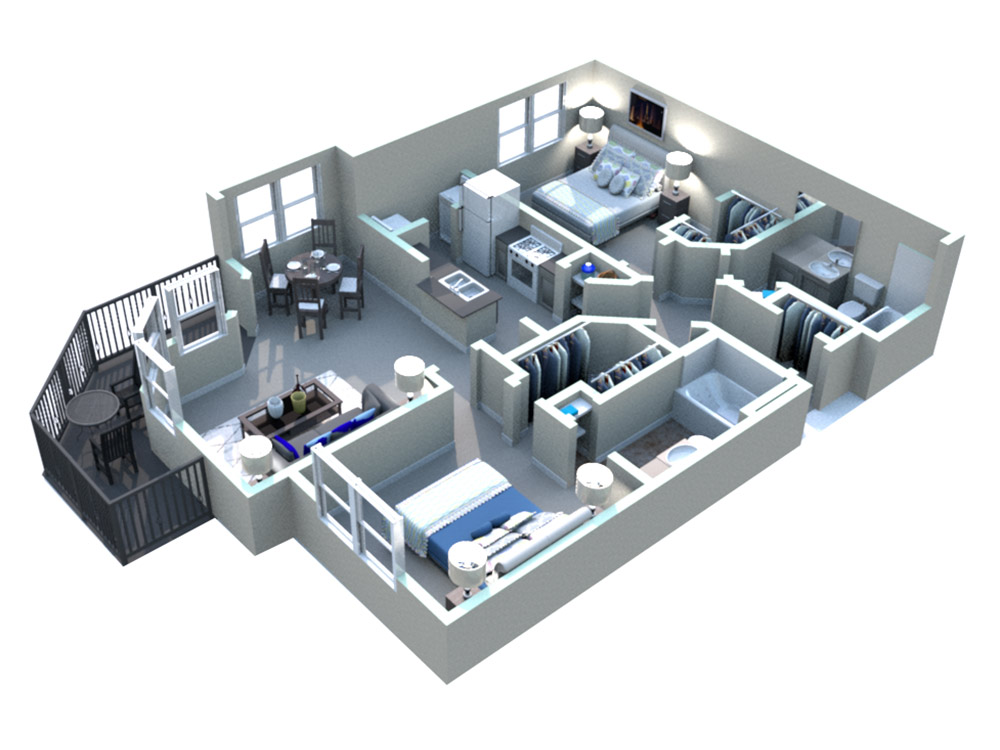 White Rock Apartment Homes - Floorplan - San Marcos