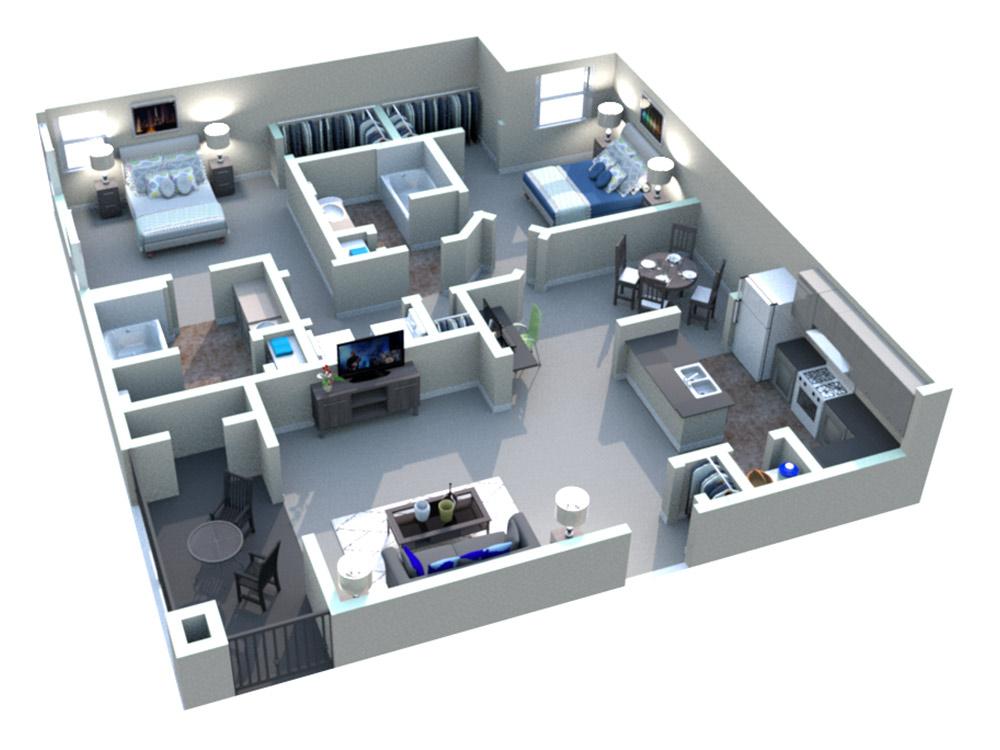 White Rock Apartment Homes - Floorplan - San Saba