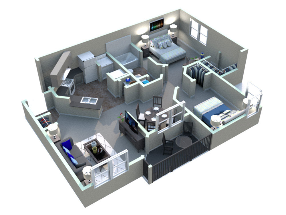 White Rock Apartment Homes - Floorplan - Georgetown
