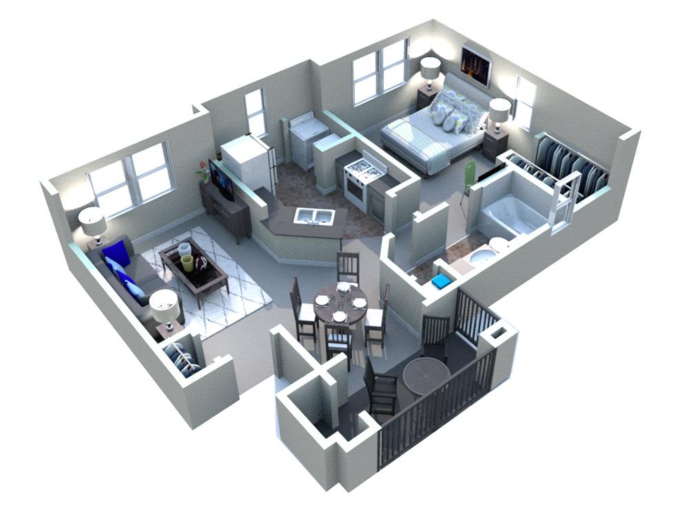 White Rock Apartment Homes - Floorplan - Ingram