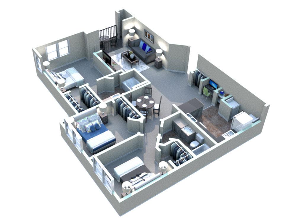 White Rock Apartment Homes - Floorplan - Greune