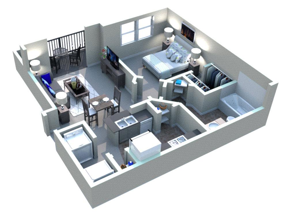 White Rock Apartment Homes - Floorplan - Fredericksburg