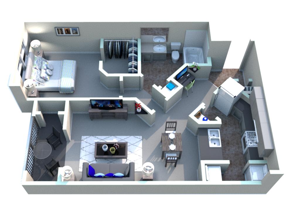 White Rock Apartment Homes - Floorplan - Bastrop
