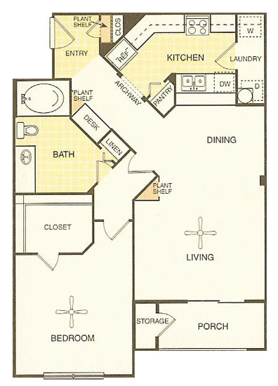 White Rock Apartment Homes - Floorplan - Bastrop