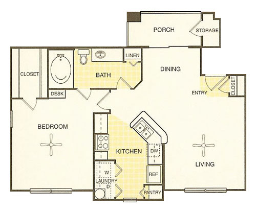 White Rock Apartment Homes - Floorplan - Ingram