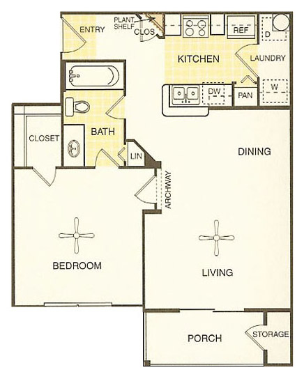White Rock Apartment Homes - Floorplan - Kerrville