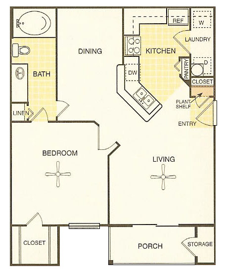 White Rock Apartment Homes - Floorplan - La Grange