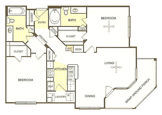 White Rock Apartment Homes - Floorplan - San Marcos