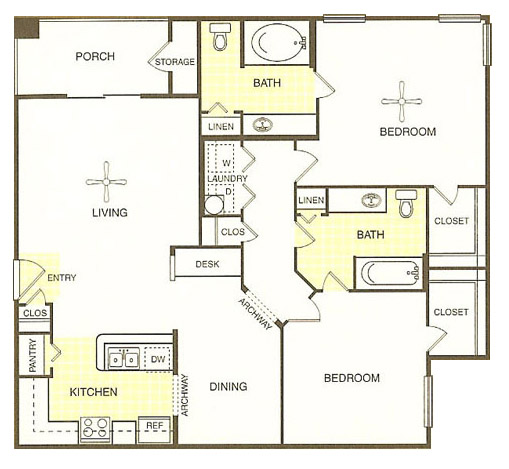 White Rock Apartment Homes - Floorplan - San Saba