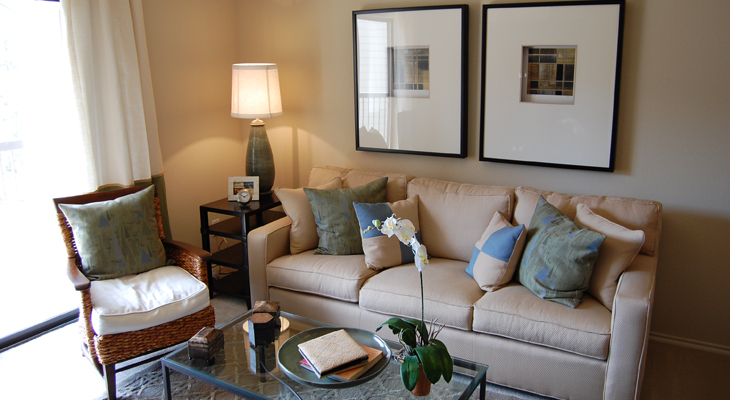 Spacious Living Rooms at White Rock Apartment Homes in San Antonio, Texas