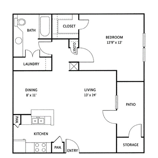 Floorplan - Addison (A4) image