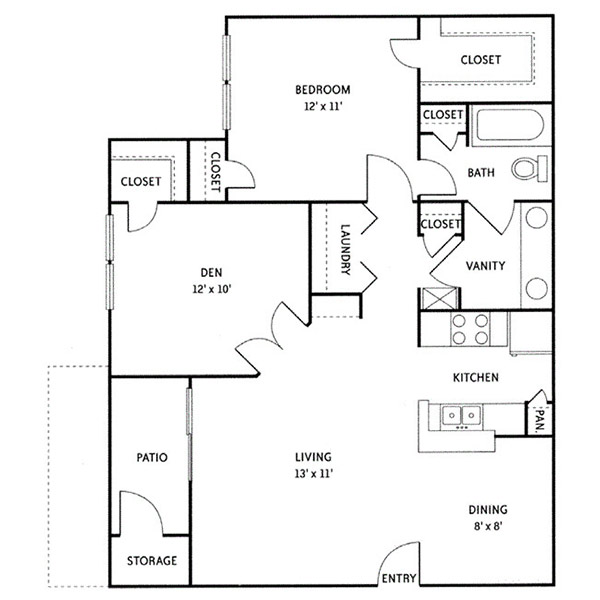 Wildwood Ridge Apartments - Floorplan - Alexander (A5)