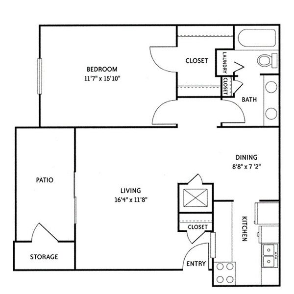 Wildwood Ridge Apartments - Floorplan - Ansley (A1)