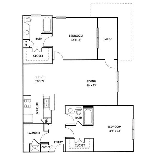 Floorplan - Baltimore (B3) image