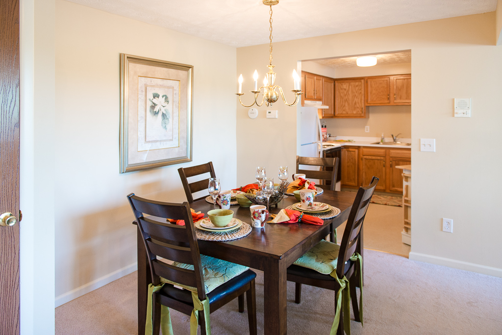 Separate Dining Space at Willow Pond Apartments and Townhouses in Penfield, New York