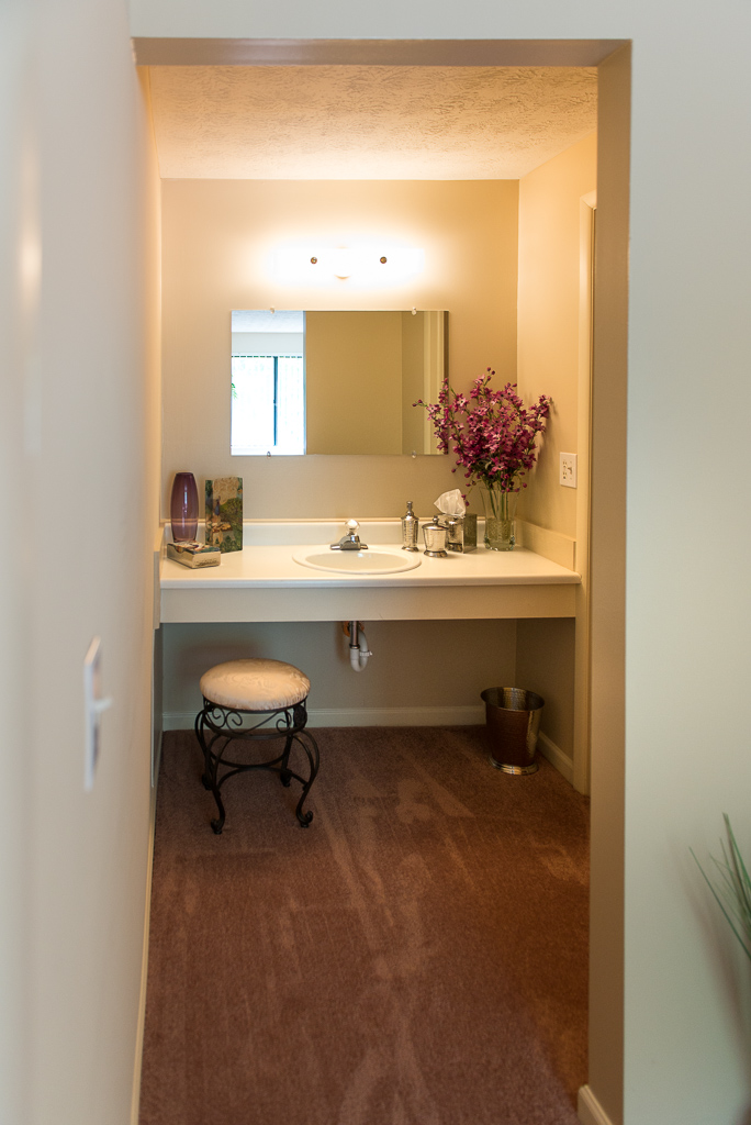 Single Sink Bathroom Vanities at Willow Pond Apartments and Townhouses in Penfield, New York