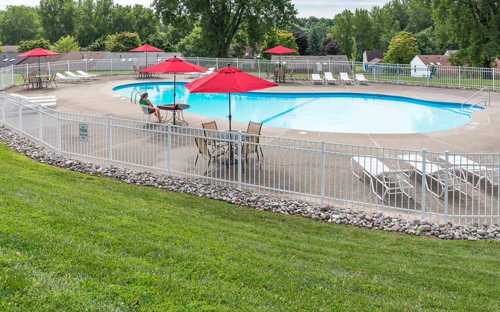 Sparkling Swimming Pool at Willow Pond Apartments and Townhouses in Penfield, New York