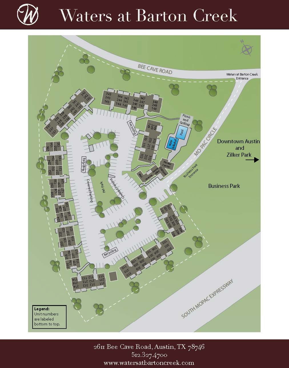 WATERS at Barton Creek Site Plan