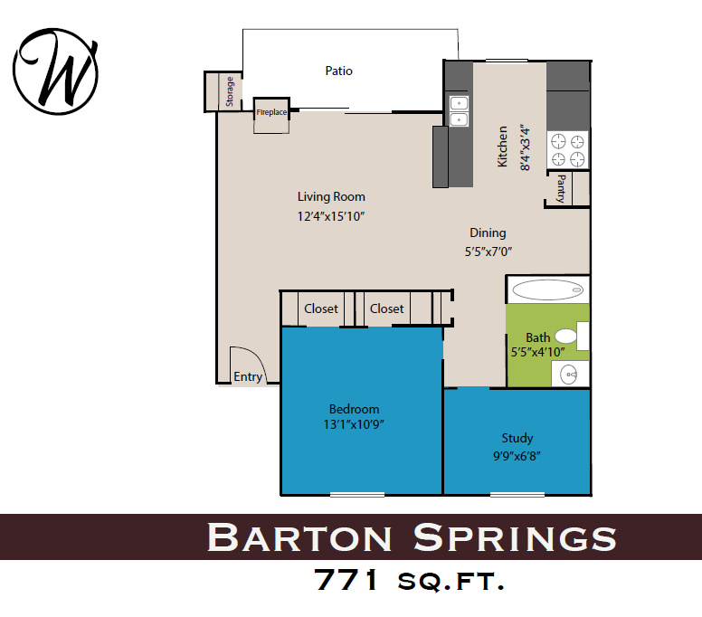 Waters at Barton Creek - Floorplan - Barton Springs